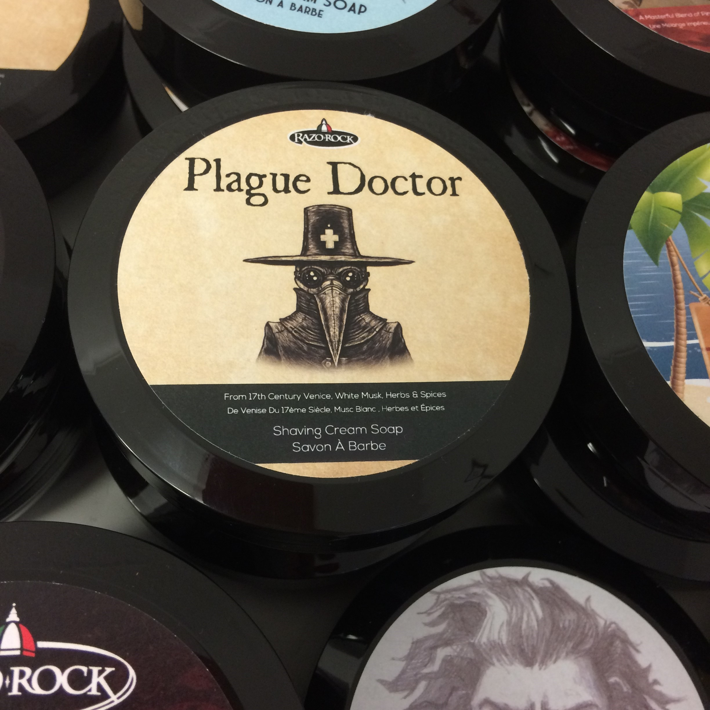 RazoRock Plague Doctor Shaving Cream Soap | Agent Shave | Wet Shaving Supplies Uk