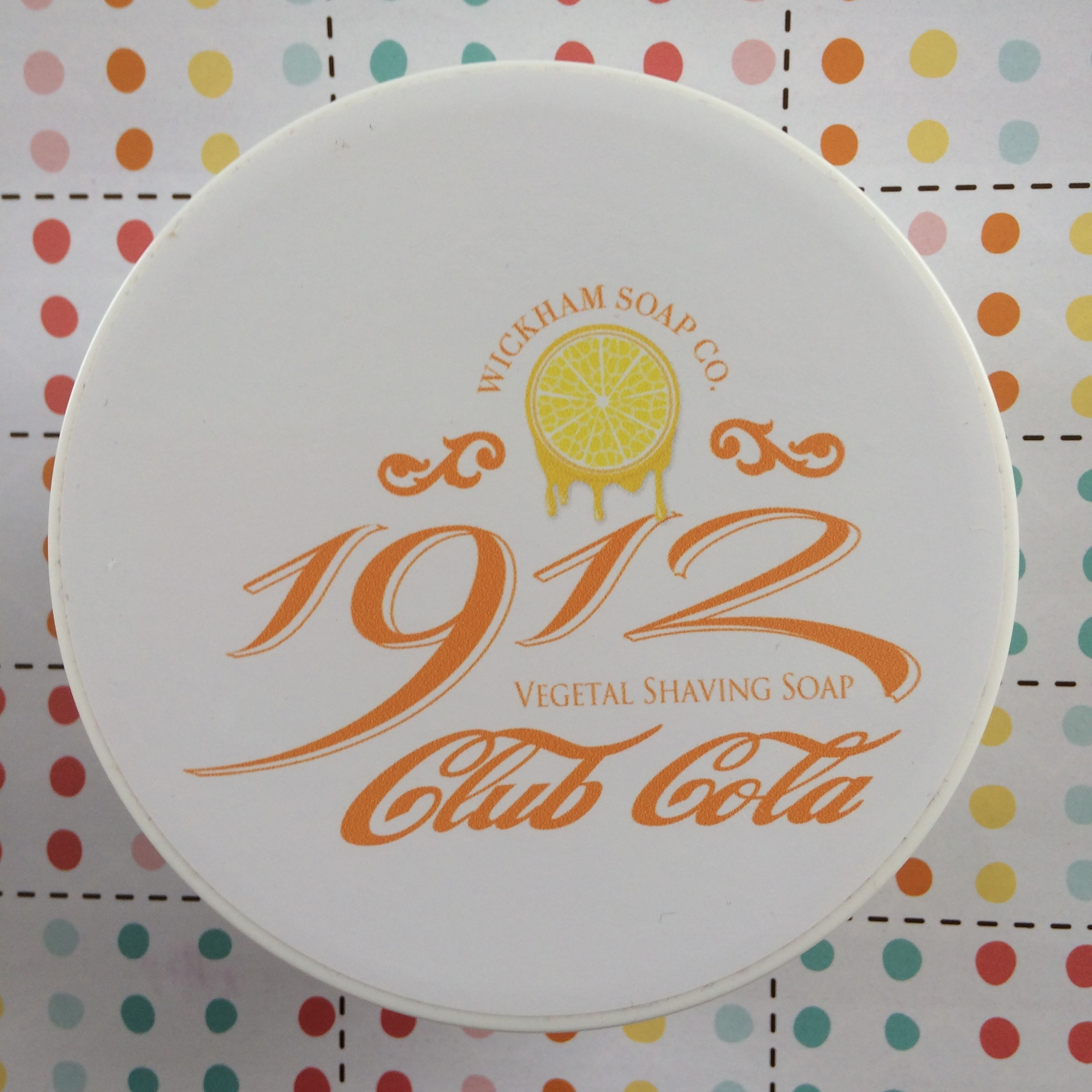 Wickham Soap Co 1912 Club Cola Shaving Soap | Agent Shave | Traditional Wet Shaving